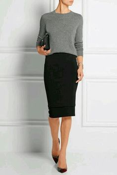 51 Elegante schwarze Outfits mit Bleistiftrock - Diy-Mode 51 Elegant black outfits with a pencil ski Fashion Mode, Work Fashion, Womens Fashion, Trendy Fashion, Ladies Fashion, Fashion Ideas, Fashion 2018, Fashion Stores, Fashion Outfits