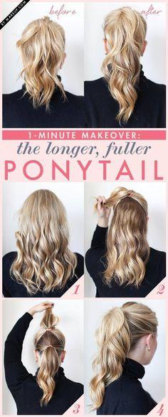 Ponytail peinados