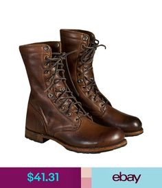 4dd133805ce080 Men Vintage Combat Pu Leather High-Top Lace-Up Boots Motorcycle Martin  Shoes  ebay  Fashion