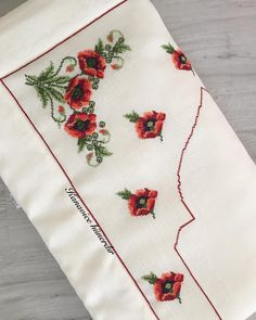 No automatic alt text available. Napkins, Cross Stitch, Instagram, Decor, Poppies, Towels, Counted Cross Stitches, Table Runners, Amigurumi