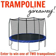 Enter to win one of TWO Trampoline with enclosure for the kids!! Two lucky winners! www.settingforfour.com