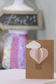 Easy Valentine's Day Card...quick 1 minute tutorial https://youtu.be/feGICNAlVW0