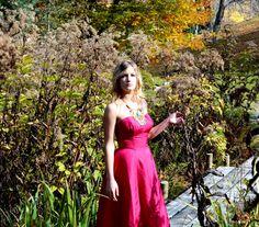 40 s robe / rose robe des années 40-50 ans tenue par SararaVintage