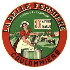 La Belle Fermière cheese label