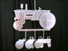 Tractor Wind Chime by TheMetalPeddler on Etsy, $28.00