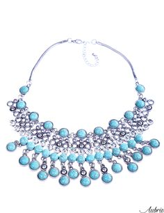 #aubrie #aubriepl #aubrie_necklaces #necklaces #necklace #jewelery #accessories #anora #vintage #silver #blue #mint