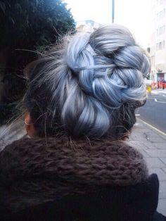 #pastelhair #bluehair #braidedhair
