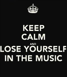 keep calm and. / keep calm and. on We Heart It Music Is My Escape, Music Is Life, My Music, Music Flow, Rap God, On Air Radio, Eminem Quotes, Keep Calm Quotes, Sayings