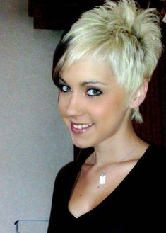 Hairstyles For Short Fine Hair Uk Funky Short Hair, Very Short Hair, Edgy Hair, Short Hair Cuts For Women, Short Hair Styles, Short Sassy Haircuts, Funky Hairstyles, Cute Hairstyles For Short Hair, Pixie Haircuts