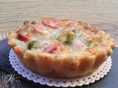 Mini quiche di frolla salata con piselli, wurstel e mozzarella Fulvia's Kitchen