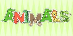 Save time and ink by printing out just the letters you need to head your Animal Alphabet display. Each letter contains our own animal alphabet themed illustrations.