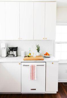 Weiße Küche Küchenzelle Ideen, Kleine Küchen Möbel Ideen, Weiße  Zimmergestaltung