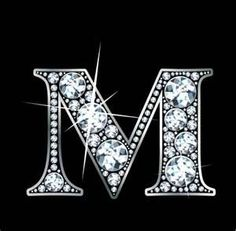 is for Madizon ... M Monogram Wedding Cake Toppers