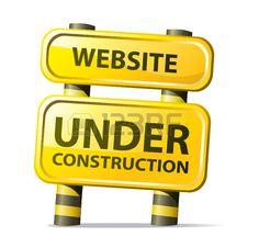 website under construction Stock Vector