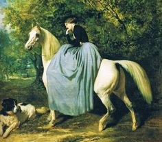 In the Swan's Shadow: Equestrian painting, bef. 1860