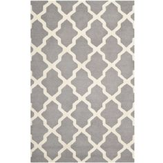 Safavieh Handmade Moroccan Cambridge Silver Wool Rug ($372) ❤ liked on Polyvore featuring home, rugs, plush area rugs, wool area rugs, trellis rug, wool rugs and safavieh area rugs