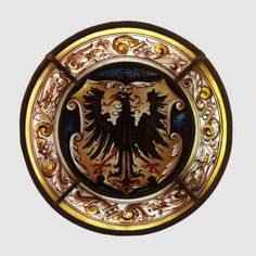 Wappenschild mit Adler, Glasmalerei / Stained Glass Heraldic Shield with Eagle