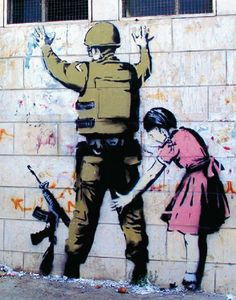 Girl Patting Down a Soldier Urban Graffiti Political Statement Art Poster Print 11x14 Unknown,http://www.amazon.com/dp/B00BORNUXM/ref=cm_sw_r_pi_dp_zFnYsb1Q1BZDX4PZ