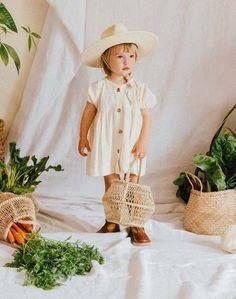 Figge Kids Exclusive Organic Dress on Garmentory Fond Studio Photo, Foto Newborn, Career Inspiration, Easter Dress, Gathered Skirt, Boho Baby, Children Photography, Baby Photos, Dress Making