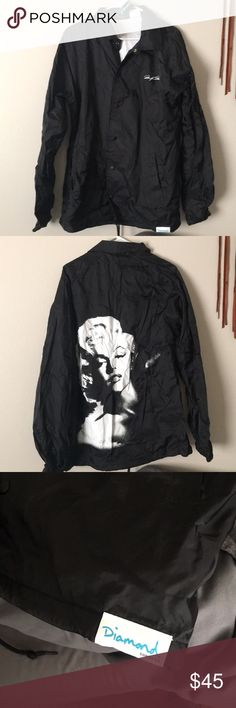 Diamond Supply Co. Windbreaker Diamond Supply Co.  Marilyn Monroe Windbreaker Size XL, never worn, new with tags Diamond Supply Co. Jackets & Coats Windbreakers