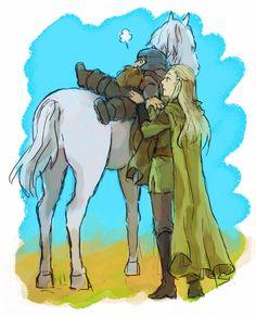"""Let me help you."" (Legolas and Gimli)"