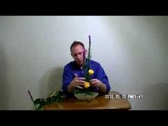 Learn How To Make a Basic Ikebana Arrangement -- Rising Form, Stephen Coler 小原流いけばな - YouTube
