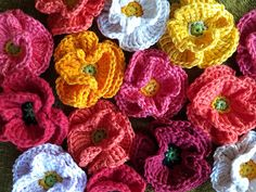 Flowers Decoration Free Crochet Pattern | Free Crochet Patterns