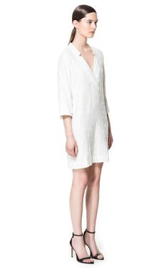 feccb942c4a White sequined tunic dress from Zara - need it now!