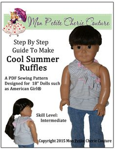 "COOL SUMMER RUFFLES 18"" DOLL CLOTHES"