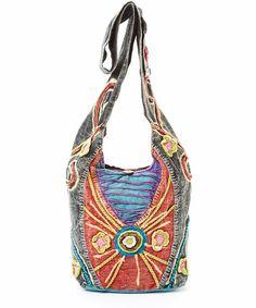 Look at this #zulilyfind! Dark Blue & Red Embellished Shoulder Bag by Rising International #zulilyfinds
