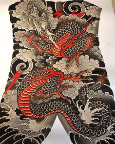 "513 lượt thích, 2 bình luận - Japanese_dragons (@japanese_dragons) trên Instagram: ""Another beautiful backpiece painting! This one by @leo_barada.  #japanese_dragons #japanesetattoo…"""