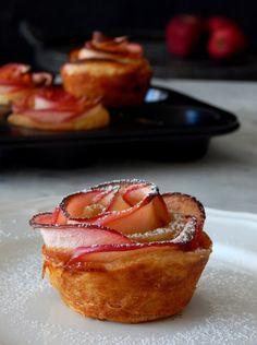 Mini rose apple pies.  http://laxtaristessyntages.blogspot.gr/2015/10/mini-rose-apple-pies.html
