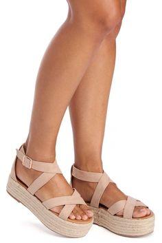 Natural Suede Step Flatform Sandal | WindsorCloud