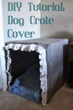 DIY dog crate cover tutorial ThisHouseIsOurHome.blogspot.com