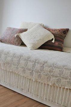 Diamond Crochet Bed Throw