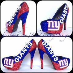 Hey, I found this really awesome Etsy listing at https://www.etsy.com/listing/183132320/new-york-giants-glitter-high-heels