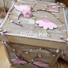 Ξύλινο κουτί βάπτισης handmade by Nikolas Ker! www.nikolas-ker.gr Baby Baptism, Christening, Cherry Blossom, Special Day, Cool Kids, Your Child, Diy And Crafts, Baby Shower, Frame