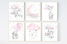 Check out our baby nursery wall art selection for the very best in unique or custom, handmade pieces from our shops. Giraffe Nursery, Star Nursery, Nursery Prints, Nursery Wall Art, Girl Nursery, Girl Room, Nursery Ideas, Room Ideas, Frames