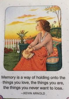 Mary Engelbreit Artwork-Memory-Handmade Fridge Magnet