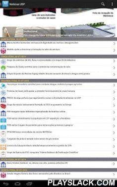 Noticias USP  Android App - playslack.com , Notícias da USP no seu telefone e tablet. Filtre pela editoria desejada. Compartilhe as notícias pelo Facebook, Twitter e e-mail diretamente do aplicativo.Esse aplicativo mostra as notícias publicadas no Portal da USP. Para tanto, utiliza conexão de dados do celular ou rede Wi-Fi. Consulte sua operadora sobre os custos.