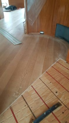 laying this custom milled nyc grade quartersawn white oak over radiant heat for a client