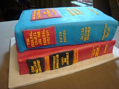 Law Books Graduation Cake