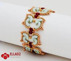 Tutorial Tulip Bracelet-Beading Tutorial with Arcos beads, Beading pattern, jewelry tutorial, Ellad2