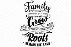 Family are like branches - Creative Fabrica