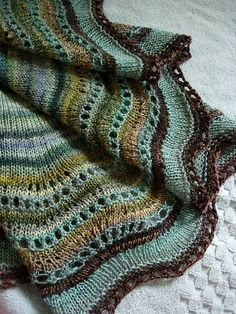 Knitting, not crochet, but I love these colors together.