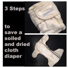 Cloth Diaper Guru: How to Save a Soiled and Dried Cloth Diaper. Because even after 3 years of cloth diapering, this still happened to me!