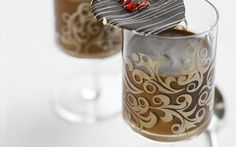 Chocolate mousse with chilli chocolate crisps by Abby Moule (Chocolate) @FoodNetwork_UK The chilli adds a real kick to this super simple mousse.