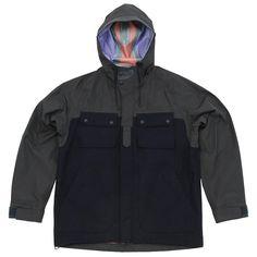White Mountaineering Wool Gore-Tex Luggage Parka (Navy)