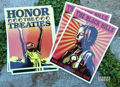 """Free """"Honor the Treaties"""" Vinyl Stickers by Obey Giant and Ernesto Yerena"""