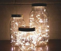 How to Make a DIY Glow Jar Learn how to make mason jar luminaries with o. - How to Make a DIY Glow Jar Learn how to make mason jar luminaries with our quick and easy # - Glow Jars, Cute Room Decor, Room Lights Decor, Lighting Ideas Bedroom, Fairylights Bedroom, Dorm Lighting, Party Lighting, String Lights In The Bedroom, Light Decorations